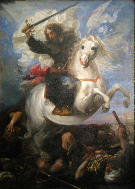 Carreno De Miranda, St Jas, Battle of Clavijo 1660 Buda